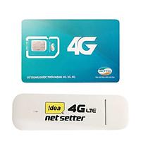 USB 4G Huawei E3372   Dcom 4G cho tốc độ lướt web chóng mặt + Sim Viettel 3G/4G 3GB /Ngày - Hàng Nhập khẩu