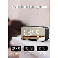 Loa bluetooth kiêm đồng hồ,mặt gương,  tiện lợi mini, 2 đồng hồ báo thức, hiển thị nhiệt độ, dung lượng pin lớn, chất lượng âm thanh cao