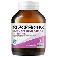 Viên uống Blackmores Dầu hoa anh thảo + Dầu cá (Evening Primrose Oil + Fish Oil) 1000mg bổ sung dưỡng chất cho da và tóc 100 viên Nhập Khẩu Úc