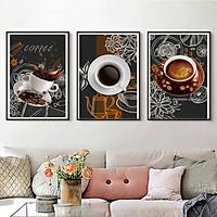 Tranh Canvas Treo Tường Hiện Đại _ Tranh Bộ 3 Tách Cafe Đẹp