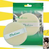 Bông phấn trang điểm tròn khô cotton Mira Culous bịch 1 miếng tặng kèm móc khóa 1 túi - 1 miếng