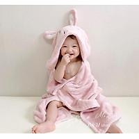 Khăn choàng, Khăn tắm có mũ cho bé từ sơ sinh Hàn Quốc
