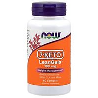 Thực phẩm bảo vệ sức khỏe: 7-Keto LeanGels 100mg hãng Now foods USA Kiểm soát cân nặng, giảm béo, chuyển hóa chất béo, giảm tích trữ mỡ