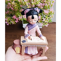 (04 mẫu) Bộ tượng thiếu nữ Cầm Kỳ Thi Họa cổ trang 3D sinh động
