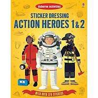Usborne Sticker Action Heroes 1 & 2