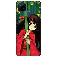Ốp lưng dành cho Realme C15 mẫu Anime Cô Gái Kimono Đỏ