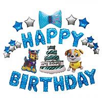 Set bóng trang trí sinh nhật Những chú chó cứu hộ Xanh 31 chi tiết kèm băng dính chuyên dụng