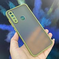 Ốp lưng cho Xiaomi Redmi Note 8 trong nhám viền màu che camera