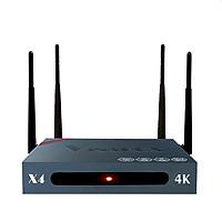 Android Tv Box VINABOX X4 - 4 râu wifi, Chip lõi tứ RK3229 - Hàng Chính Hãng