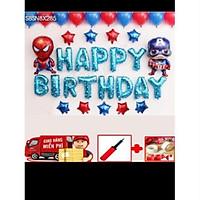 Set bóng sinh nhật captain và người nhện
