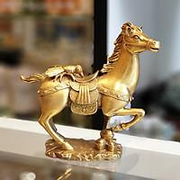 Tượng Ngựa Đồng Cõng Kim Nguyên Bảo Chiêu Tài Mã Đáo Thành Công D283