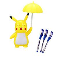 Đèn sạc Pikachu siêu dễ thương 3 chế độ sáng Tặng Kèm Bộ 3 bút bi nước cao cấp
