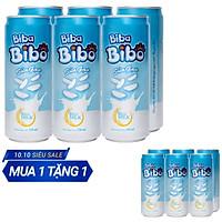 [ Sữa gạo từ gạo ST25] Bibabibo combo 02 (lốc) lon 330ml (12 lon), tốt cho da, giảm cân, tim mạch