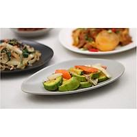 Đĩa bầu dục 22.5cm - Erato Korea -Pebble - đĩa đựng món chính và phụ