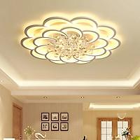 Đèn chùm pha lê phòng khách, đèn mâm ốp trần trang trí - OPLADY01210