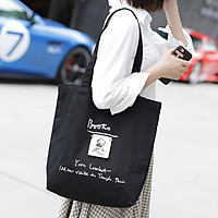 Túi tote vải đeo chéo canvas bag