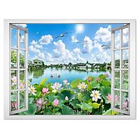 Tranh dán tường cửa sổ phong cảnh đẹp VT0416