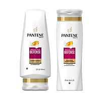Combo 2 chai Dầu gội và Xả ngăn gãy dụng tóc Pantene Pro-V Breakage Defense 375ml - USA