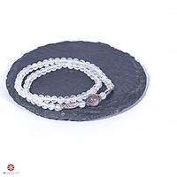 Vòng tay đá mặt trăng Moonstone 5mm tự nhiên quấn 2 lines phối charm bạc thời trang - Hợp mệnh Kim, Thủy | VietGemstones
