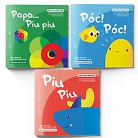 Sách Ehon - Combo 3 cuốn Ấn tượng của Piu Piu - Dành cho trẻ từ 0 - 2 tuổi