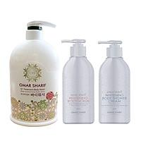 Bộ 3 sản phẩm Sữa tắm Trăng Sáng Chống Lão Hóa, Mượt Da OMAR SHARIF Paris- Whitenibf Body Care