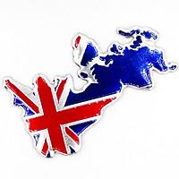 Cờ Anh England bản đồ - Sticker metal hình dán kim loại