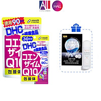 Viên uống chống lão hóa trẻ da DHC coenzyme q10 TẶNG mặt nạ Sexylook / xịt khoáng Avene (Nhập khẩu)