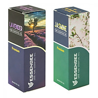 Combo Tinh dầu Hoa Lài và Tinh dầu Hoa Lavender - Essenbee (20ml/chai)