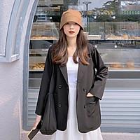 Áo khoác vest blazer nữ phong cách hàn quốc 2 túi dán 3 màu