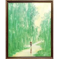 Tranh sơn dầu sáng tác vẽ tay: Tình Xanh