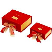 Hộp quà Tết bọc nhung, hộp đựng quà Valentine, hộp quà sinh nhật thắt nơ