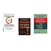 Combo 3 cuốn sách: Tư Duy Ngược Dịch Chuyển Thế Giới + Tư Duy Làm Giàu - Những bài nói chuyện bất hủ của Napoleon Hill + Tư Duy Tích Cực Tạo Thành Công