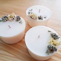 Bộ 3 nến hoa lavender và hoa cúc trắng – quà tặng đặc biệt