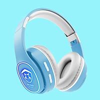 Tai nghe chụp tai Bluetooth 5.0 K6131 Macaron Hỗ Trợ Thẻ Nhớ, Dây 3.5mm, Đài FM - Hàng Nhập Khẩu