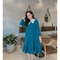 váy bầu cao cấp cực sang chảnhchất lụa nhung siêu siêu mátfrom rộngfree size 43~70kg