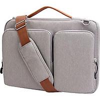 Túi xách, cặp da bảo vệ laptop 13 -14inch nhiều ngăn tiện dụng