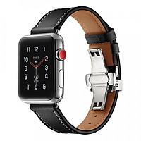 Dây Da Italia Khóa Bạc Chống Gãy Dành Cho Apple Watch 42/44mm