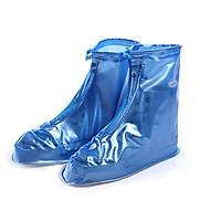 Ủng bọc giày đi mưa đi phượt chống nước có đế chống trượt - màu xanh