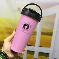 Ly cà phê giữ nhiệt 500ml ( màu hồng )