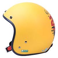 Mũ bảo hiểm 3/4 CHITA CT1 - Màu vàng sơn mờ tem Sài Gòn 2 mùa nóng