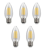 Bộ 5 bóng đèn Led Edison C35 4W hình quả nhót đui E27