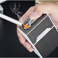 Bật lửa HDA6 sạc usb đựng thuốc (tặng ví đựng thẻ card )