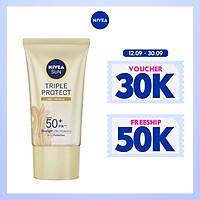 Kem Chống Nắng Dưỡng Da Chống Lão Hóa Niveasun Triple Protect Anti Wrinkle Spf50+ Pa+++ 40Ml - 85546