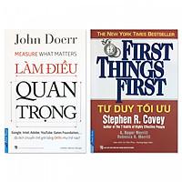 Combo Tư duy tối ưu + Làm điều quan trọng (2 quyển)