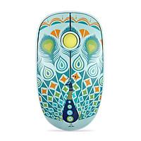 Chuột Không Dây Forter V8 Slient Mouse (Không tiếng ồn) Màu Xanh Lá - Hàng Chính Hãng