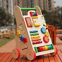 Bộ đồ chơi gỗ đa năng kết hợp xe đẩy