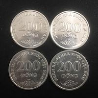 Combo 4 viên xu Việt Nam 2003 mệnh giá 200 đồng