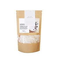 Bộ dụng cụ tự tạo nến DIY - Nến thơm sáp ong với lá bạch đàn thơm và hoa đào 150ml
