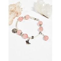 Vòng tay phong thủy đá thạch anh hồng 10mm mệnh hỏa , thổ - Ngọc Quý Gemstones