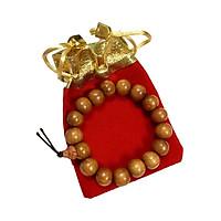 Vòng đeo tay gỗ hương may mắn GH01 (cỡ hạt 12li, có kèm túi nhung )